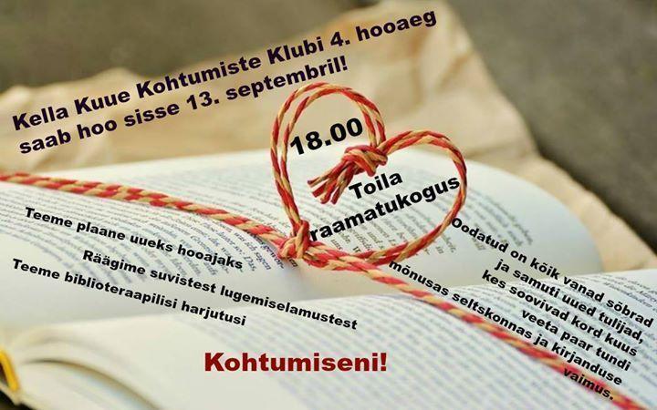 Mihklikuine kohtumine - Toila Raamatukogu