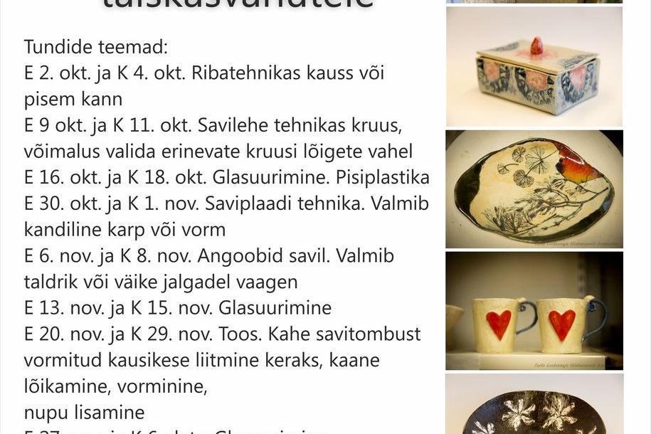 Keraamika kursus - Tartu loodusmaja