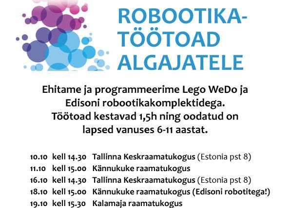 Robootika töötuba - Tallinna Keskraamatukogu