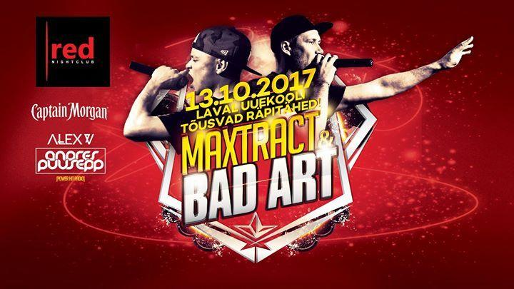 Live: BAD ART & Maxtract  - Club RED