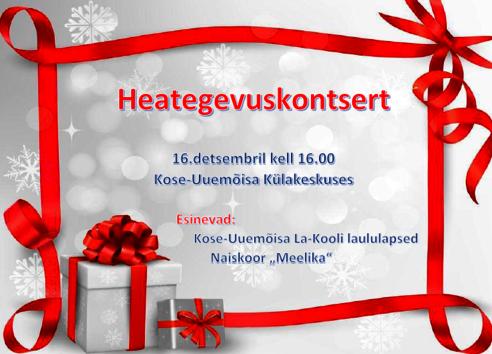 NAISKOOR MEELIKA HEATEGEVUSKONTSERT - Kose-Uuemõisa Külakeskus