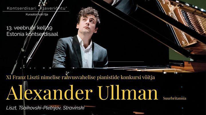 Klaveriõhtu: Alexander Ullman - Estonia Kontserdisaal