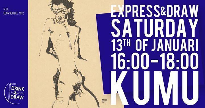 Express & Draw 4/4 - Nude Male Model - Kumu kunstimuuseum