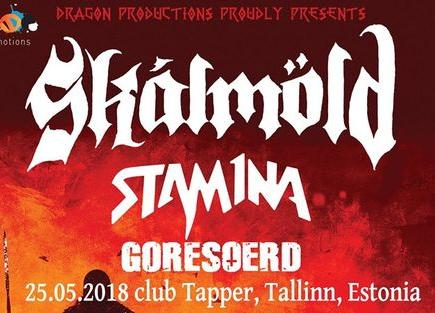Live: Skálmöld [isl], Stam1na [fin], Goreoserd [est] - Rockclub Tapper