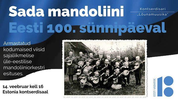 Sada mandoliini Eesti sajandal sünnipäeval - Estonia Kontserdisaal