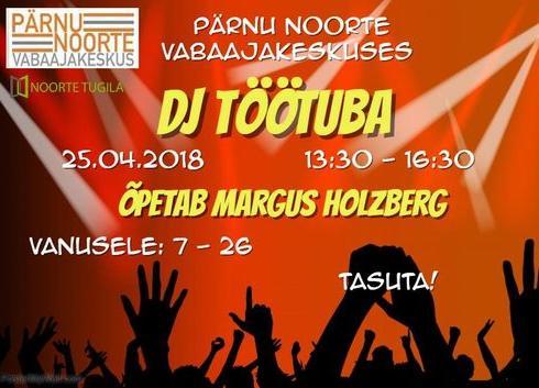 DJ Töötuba - Pärnu Noorte Vabaajakeskus
