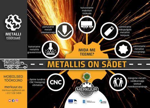 """Merkuuri mobiilne töötuba """"Metallis on sädet!"""" - Loo noortekeskus"""