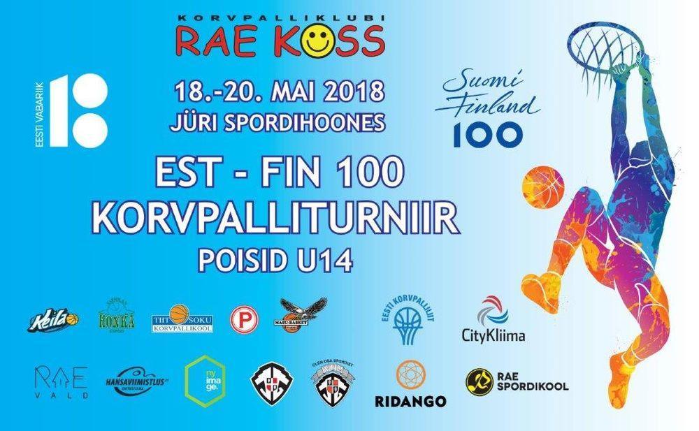Korvpalliturniir EST-FIN 100 - Jüri Spordihoone