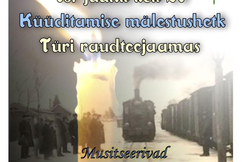 Küüditamise mälestushetk Türi raudteejaamas. - Türi Kultuurikeskus