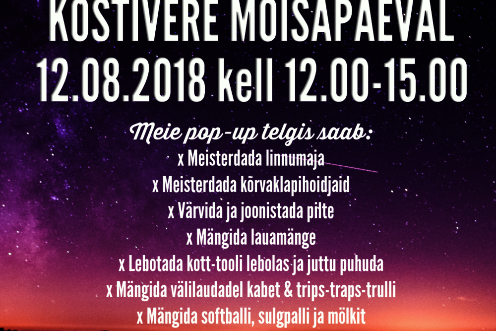 Augustikuu MoNo: Kostivere mõisapäev - Kostivere Kultuurimõis