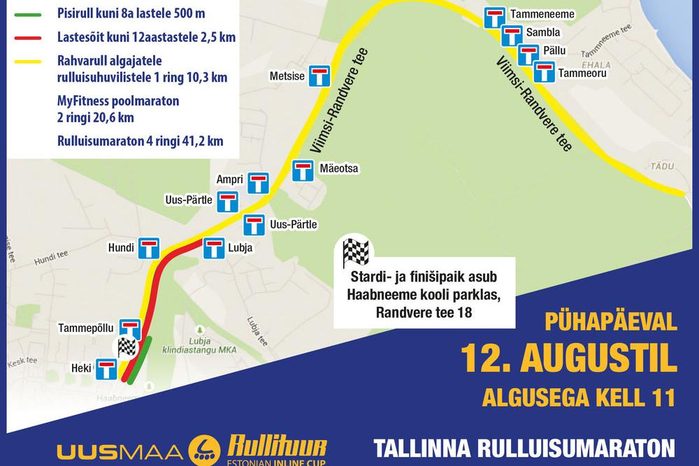 Tallinna Rulluisumaraton - Haabneeme Kool, Randvere tee 18