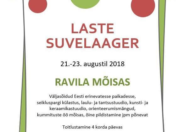Laste suvelaager - Ravila Mõis