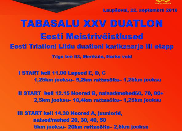Tabasalu XXV duatlon - Meriküla Õppe- ja Spordikompleks
