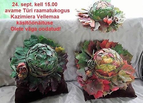 Kazimiera Vellemaa käsitöönäitus - Türi raamatukogu