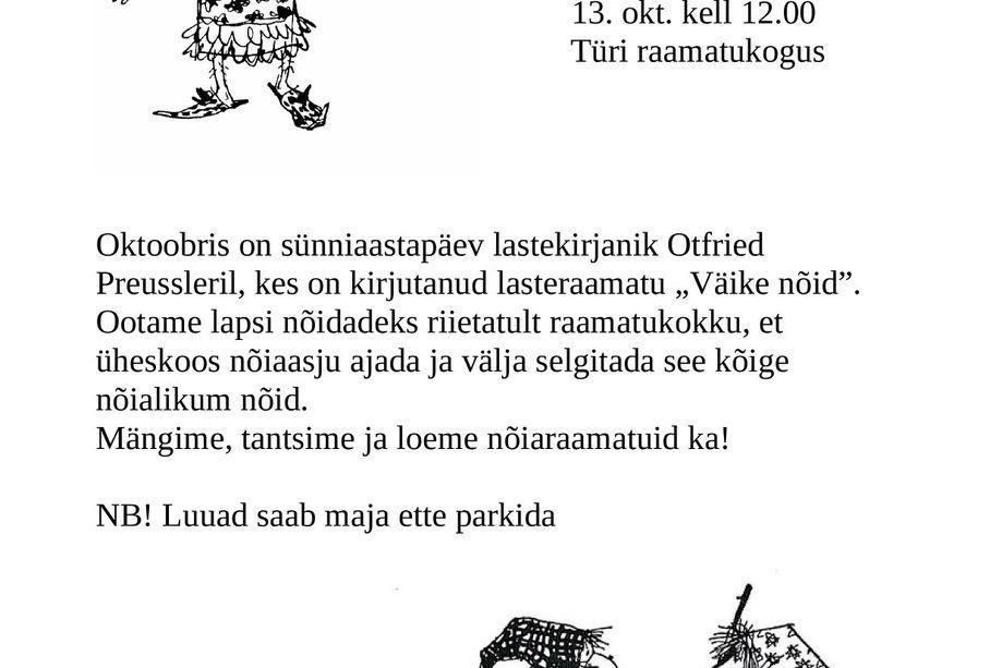 """Lastehommik """"Väike nõid"""" - Türi raamatukogu"""