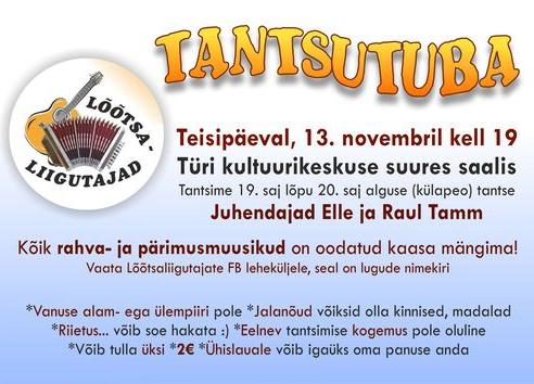 Tantsutuba ootab kaasa tantsima ja musitseerima! - Türi Kultuurikeskus