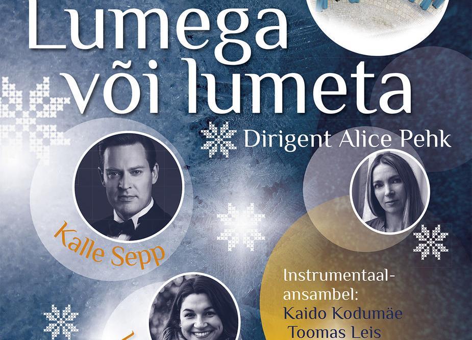 """Rae Kammerkoori jõulukontsert """"Lumega või lumeta"""" Türi kultuurikeskuses. - Türi Kultuurikeskus"""