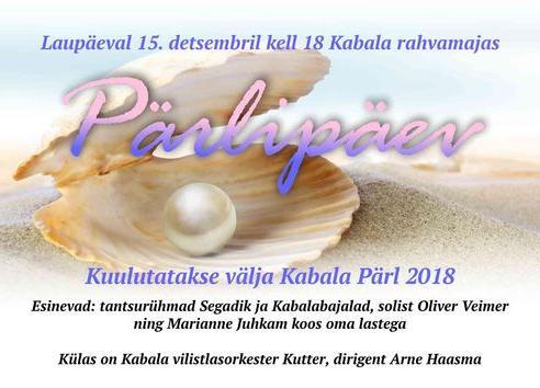 PÄRLIPÄEV 2018 Kabala rahavamajas! - Kabala Rahvamaja