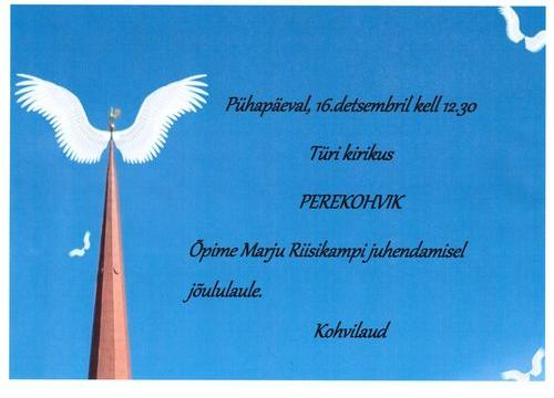 Perekohvik Türi kirikus - Türi kirik