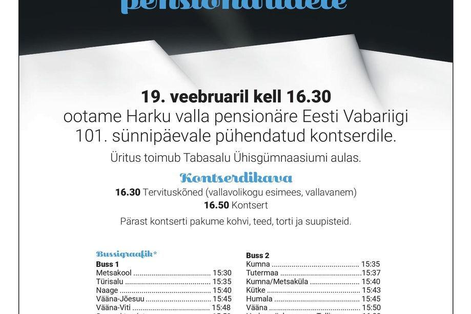 Pidulik kontsert Harku valla pensionäridele - Tabasalu Ühisgümnaasium