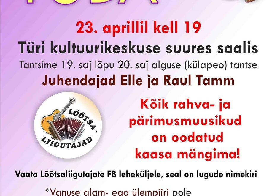 Tantsutuba Türi kultuurikeskuses kutsub tantsima ja kaasa musitseerima! - Türi Kultuurikeskus suur saal