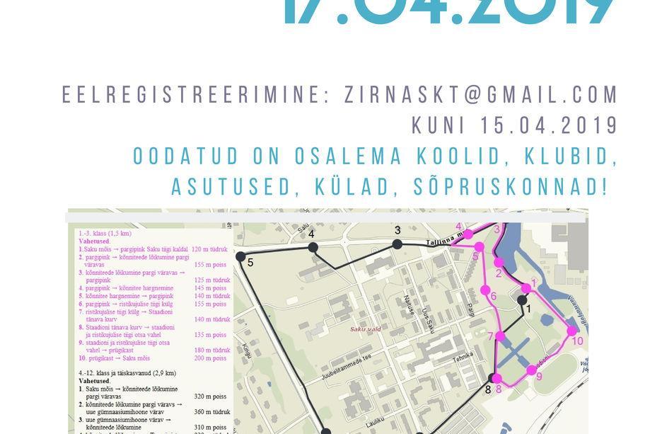 Jüriööjooks 2019 - Saku Valla Spordikeskus