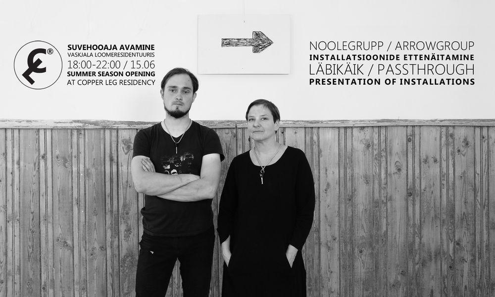 """Vaskjala Loomeresidentuuri suvehooaja avamine / Noolegrupi installatsioon """"Läbipääs"""" - Rae koolimaja"""