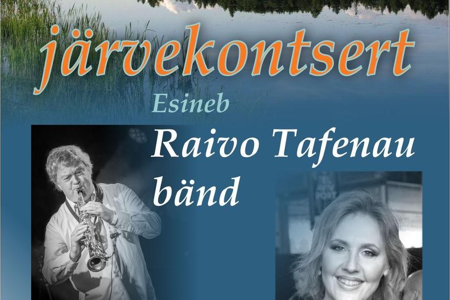 Türi järvekontsert - Raivo Tafenau bänd, solist Kaire Vilgats - Türi tehisjärve rand
