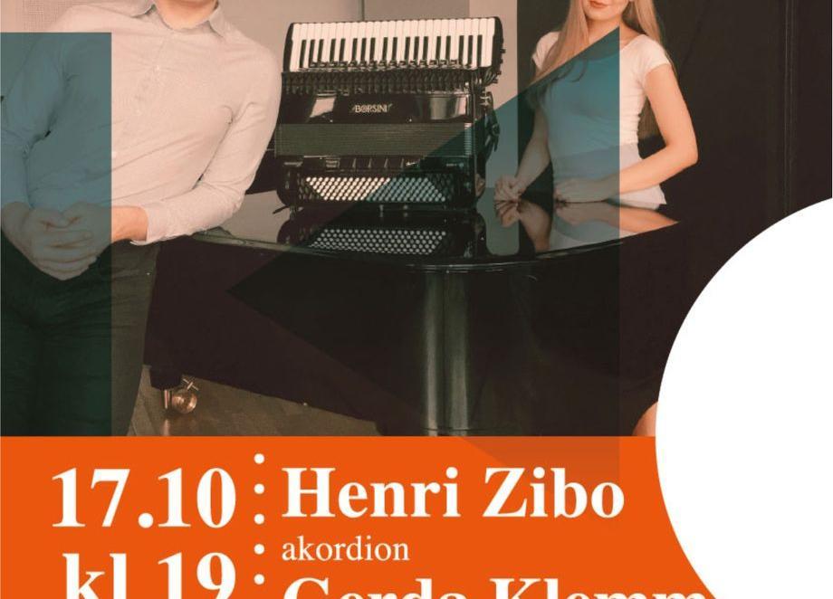 Muusika 101 Eestimaale- Henri Zibo (akordion) ning Gerda Klemm (klaver) Türi kultuurikeskuses - Türi Kultuurikeskus