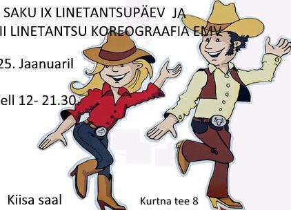 Saku IX Linetantsupäev / VII Linetantsu koreograafia EMV - Kiisa saal(Saku Valla Kultuurikeskus)