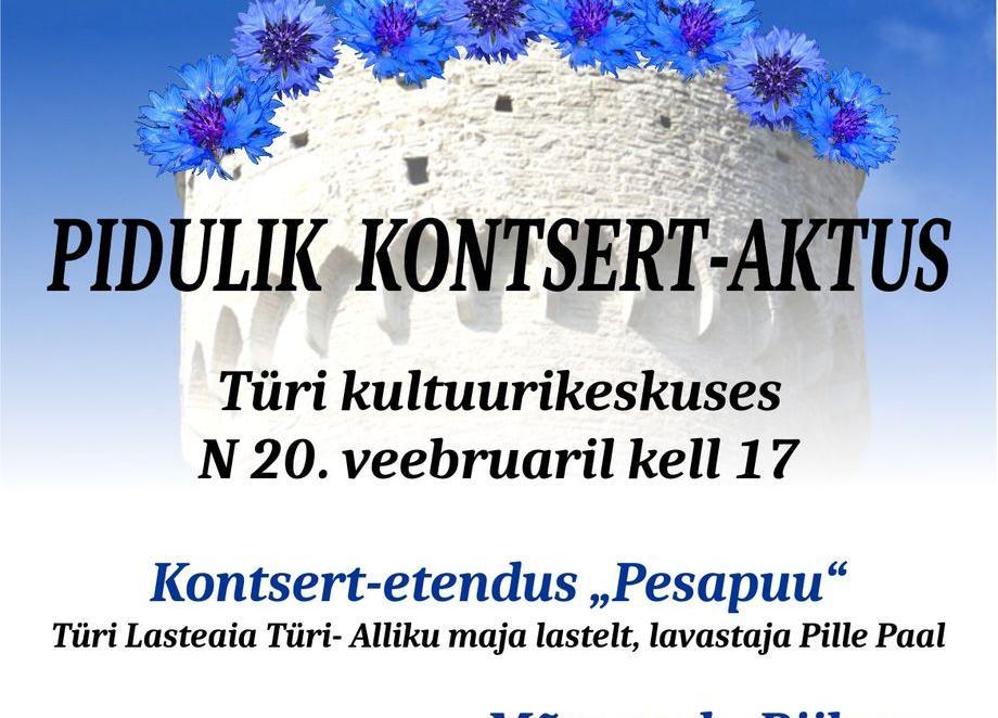 Eesti Vabariigi 102.aastapäeva tähistamine Türi kultuurikeskuses - Türi Kultuurikeskus