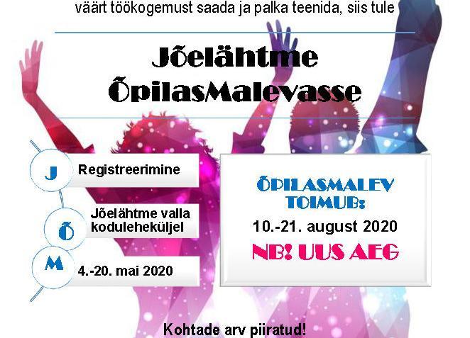 Jõelähtme Õpilasmalev 2020 (JÕM2020) - Jõelähtme