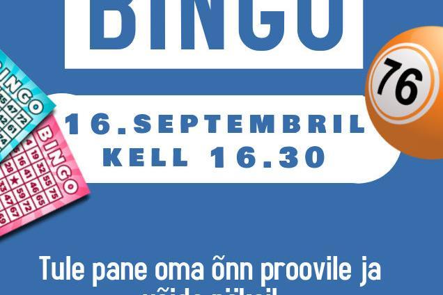 Bingo - Kiili Noortekeskus