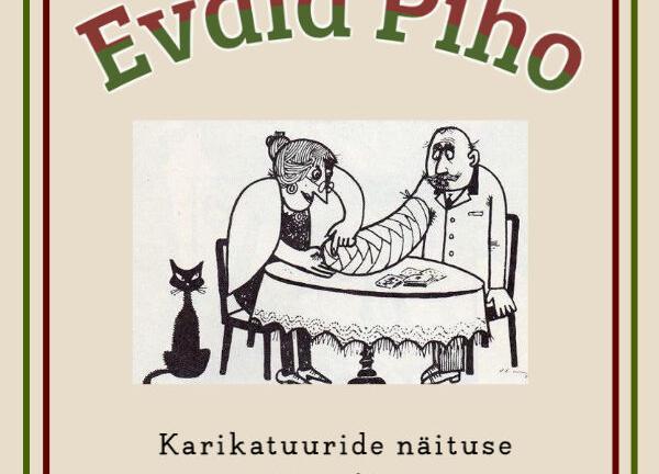 Evald Piho karikatuuride näituse avamine - Vaida Raamatukogu