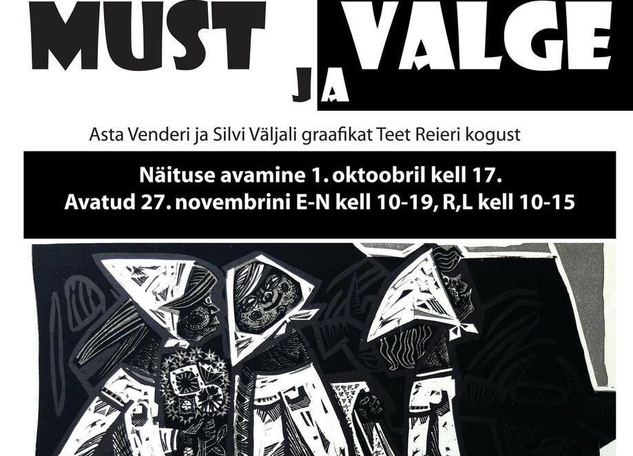 """Asta Venderi ja Silvia Väljali graafikanäituse """"Must ja valge"""" avamine - Türi Kultuurikeskus klaassaal"""