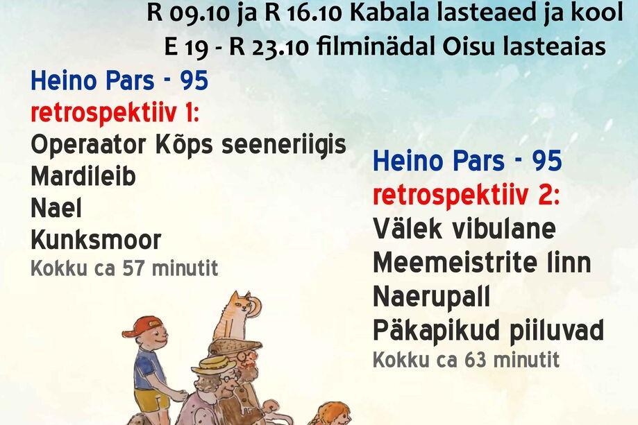Filmifestival KINO MAALE külas Oisu lasetaias! 19.- 23.10 filminädal - Oisu rahvamaja