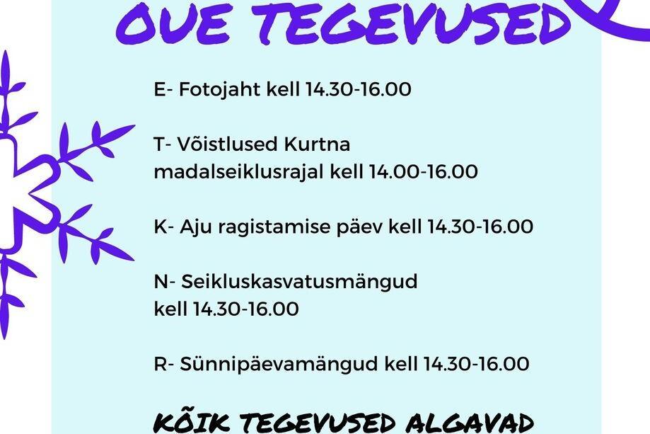 11.01-15.01.2021 nädal kiisa noortekeskuses - Kiisa Noortekeskus