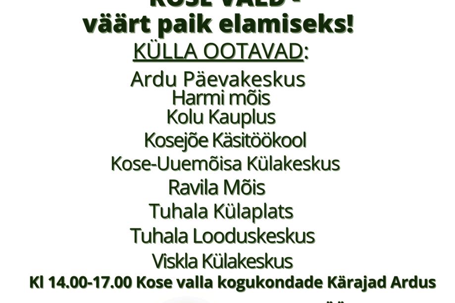 MAAL ELAMISE PÄEV - Kose Parish
