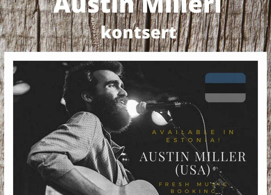 Ameerika folklaulja Austin Milleri kontsert Neeme Rahvamajas 24.10.2021 kell 16.00 - Neeme Rahvamaja