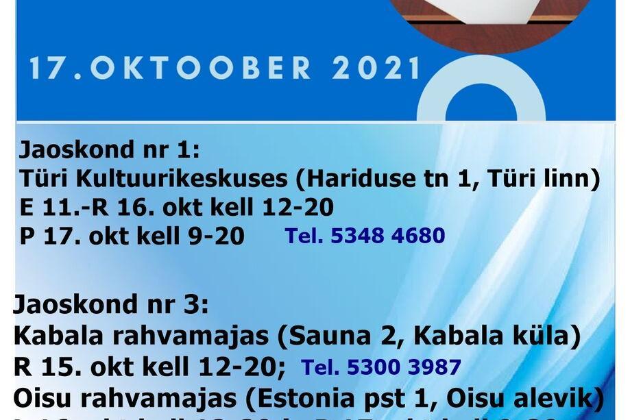 KOV valimised 2021 Kabala rahvamajas - Kabala Rahvamaja