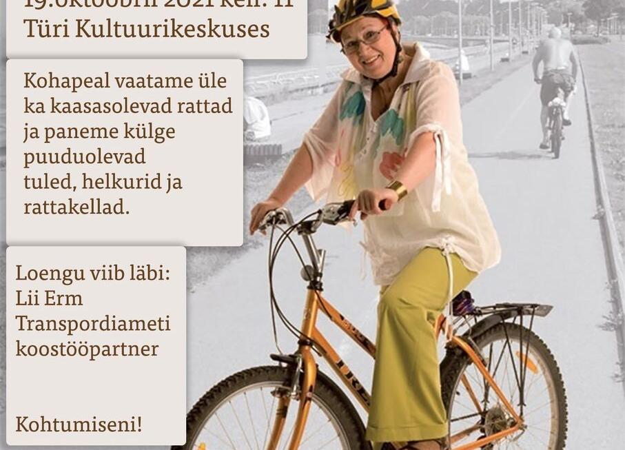 Jalakäijate ja jalgratturite liiklusohutusalane loeng eakatele Türi kultuurikeskuses - Türi Kultuurikeskus