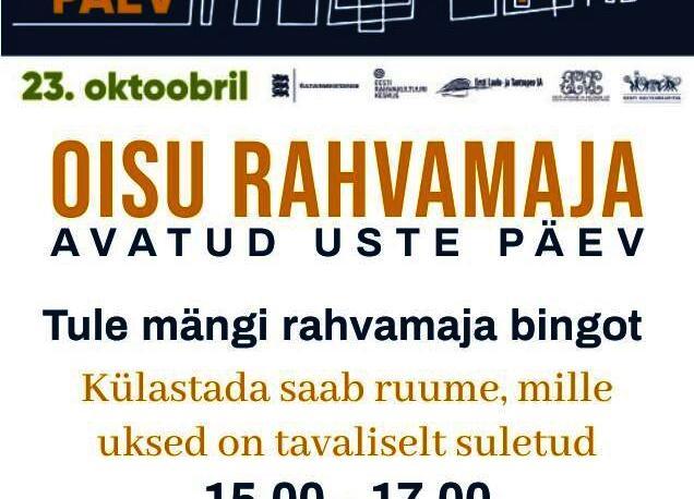 Eestimaa Rahvamaja Päev 2021 Oisu Rahvamajas - Oisu rahvamaja