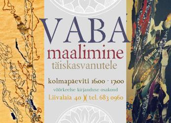Vaba maalimine - Tallinna Keskraamatukogu võõrkeelse kirjanduse osakond (Liivalaia 40)