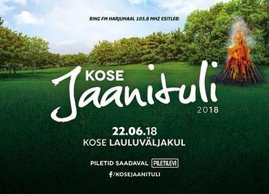 Kose Jaanituli 2018 - Kose Lauluväljak