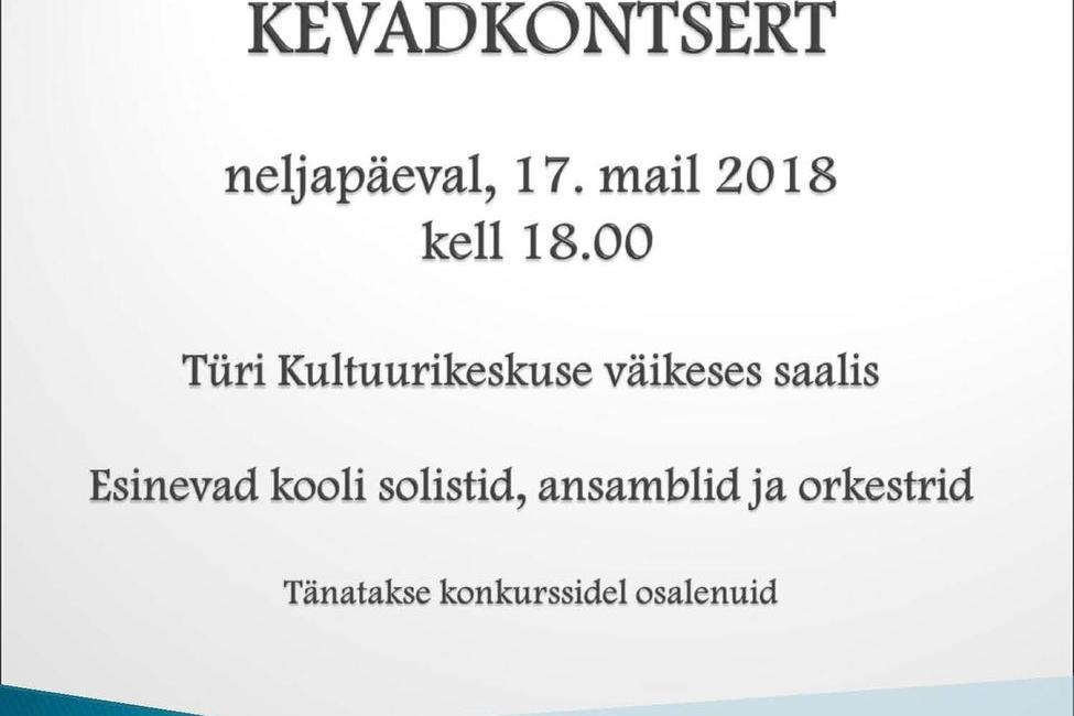 Türi Muusikakooli kevadkontsert - Türi Muusikakool