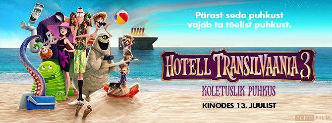 """Animafilm """"HOTELL TRANSILVAANIA 3: KOLETUSLIK PUHKUS"""" - Jõgeva Kultuurikeskus"""