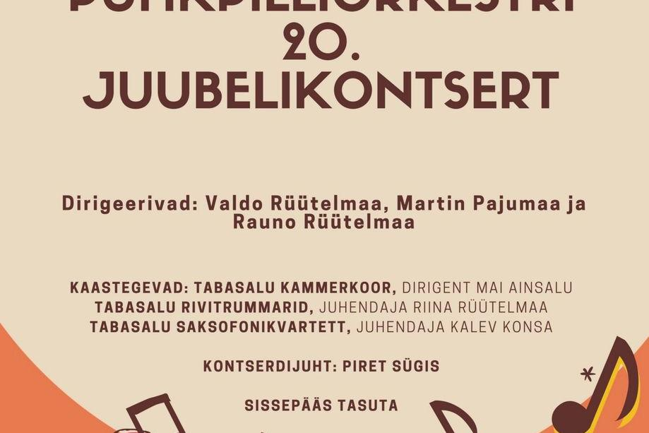 Tabasalu Muusikakooli puhkpilliorkestri 20. juubelikontsert - Tabasalu Ühisgümnaasium