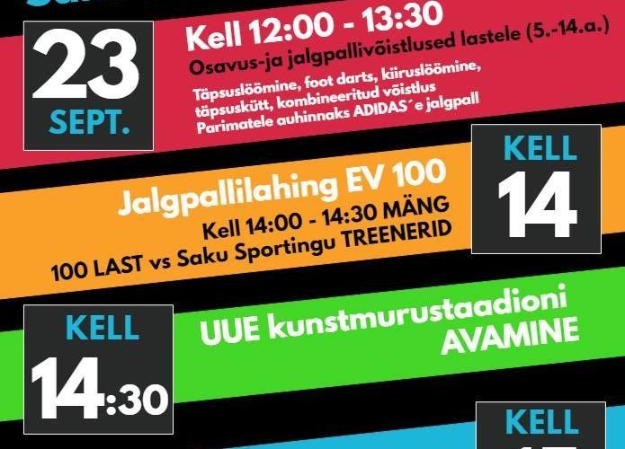 Jalgpallifestival Saku kunstmuru staadionil - Saku Valla Spordikeskus