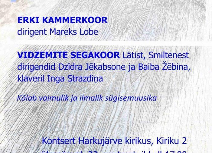 """Kirikukontsert """"Puhu tuul"""" - Harkujärve Kogukonnakirik"""