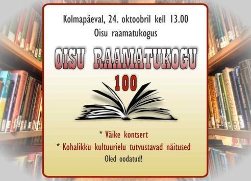 Oisu raamatukogu 100 - Oisu raamatukogu